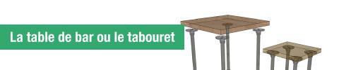 Le table de bar ou le tabouret