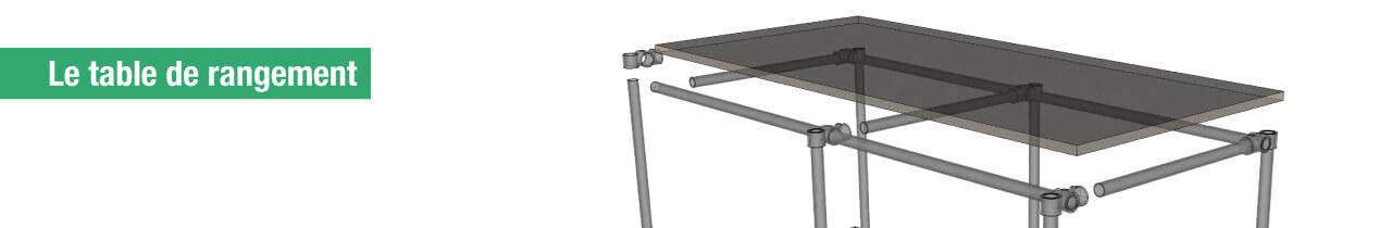Le table de rangement